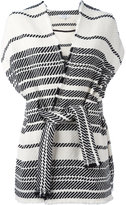IRO striped shortsleeved wrap jacket - women - Cotton/Acrylic/Polyester - 36