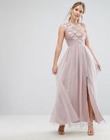 Little Mistress Sequin One Shoulder Maxi Dress