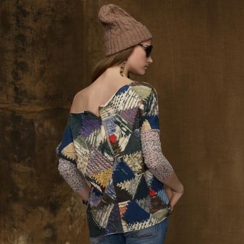 Denim & Supply Ralph Lauren Terry Mosaic Top