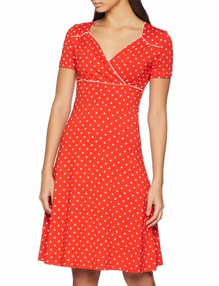 Joe Browns Women's Perfect Polka Dot Jersey Dress Red (A-Red (Size:16)