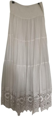 Twin-Set Twin Set White Cotton Skirt for Women