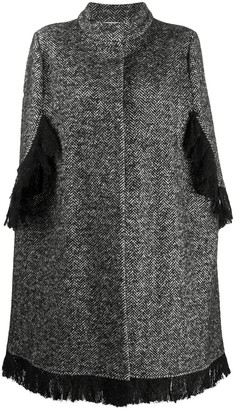 Charlott Single-Breasted Cape Coat