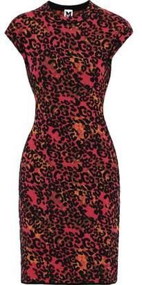 M Missoni Leopard Jacquard-knit Dress