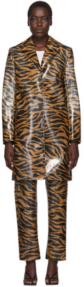 Kwaidan Editions Orange and Black Tiger Car Coat