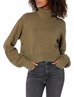 The Drop Women's @lucyswhims Side Button Cropped Turtleneck Sweater