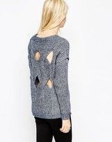 Asos Sweater in Denim Yarn with Cut Out
