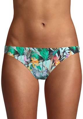 Nanette Lepore Swim Floral-Print Bikini Bottom