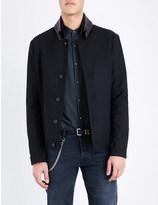 The Kooples Buckle-detail wool-blend jacket