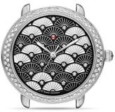 Michele Serein 16 Black Fan Diamond Dial Watch Head, 34mm