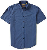 Roundtree & Yorke Gold Label Short-Sleeve Striped Perfect Performance Sportshirt