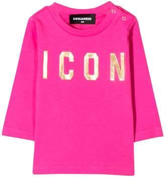 DSQUARED2 Fuchsia Long Sleeve T-shirt