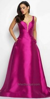 Mac Duggal Plunging Sweetheart A-line Ball Gown