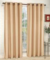 Style Master Stylemaster Tribeca 56 by 120-Inch Faux Silk Grommet Panel, Sand
