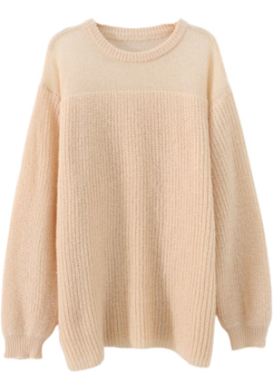 Goodnight Macaroon 'Annie' Half Sheer Slouchy Sweater (5 Colors)