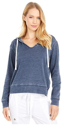 Splendid Lunar Active Hoodie (Navy) Women's Clothing