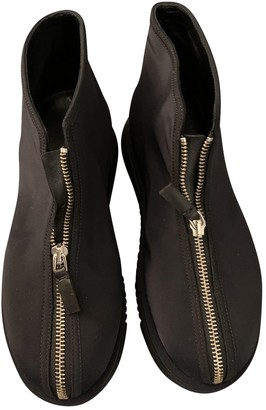 Marni Black Rubber Ankle boots