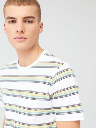 Levi's Stripe Sunset Pocket T-shirt - Grey