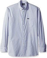 Façonnable Men's Classic Fit Exclusive Stripe Poplin Woven