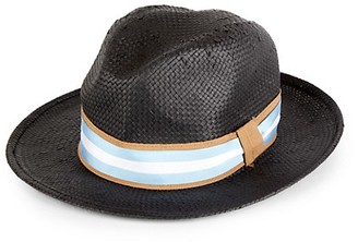 Saks Fifth Avenue Alessandria Woven Straw Fedora