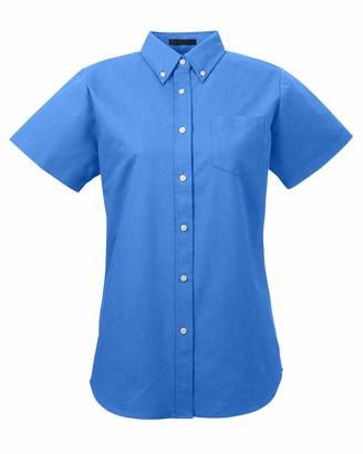 AquaGuard UltraClubs Women's ULTC-8973-Classic Wrinkle-Free Short-Sleeve Oxford