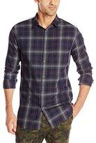 Zanerobe Men's Wire Plaid Long Sleeve Shirt