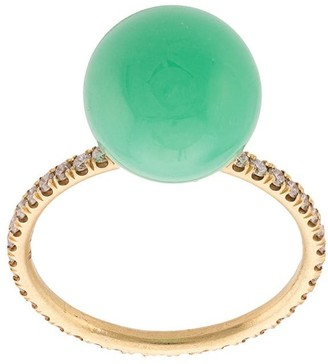Irene Neuwirth 18kt Yellow Gold Chrysoprase Ring