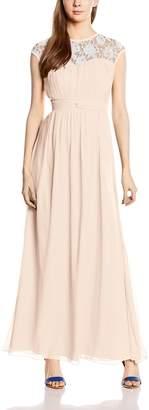 Little Mistress Women's Sheer Lace Maxi Dress