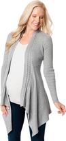 Motherhood Cascading Knit Maternity Cardigan