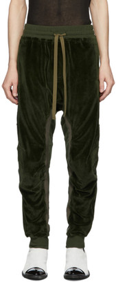 Haider Ackermann Khaki Moonshape Lounge Pants