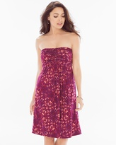 Soma Intimates Knot-Front Strapless Short Dress Tango Plum