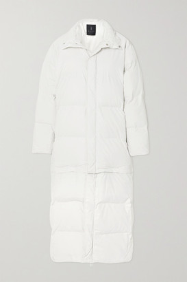 Rains Convertible Quilted Padded Shell Coat - White
