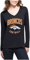 '47 Women's Denver Broncos Splitter Arch Long-Sleeve T-Shirt