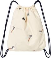 Tinycottons Off-White Scissors Towel Bag