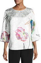 Caroline Rose Rise & Shine Jacquard Top, Plus Size