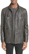 Men's John Varvatos Collection Slim Leather Jacket