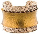 Kara Ross Hammered Leather Cuff