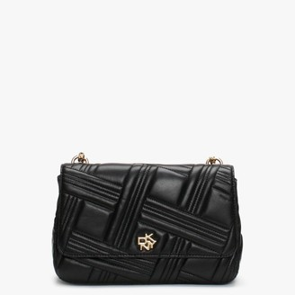 DKNY Alice Quilted Black Leather Shoulder Bag