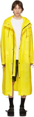 Pyer Moss Yellow Logo Raincoat