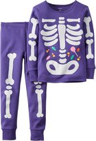 Carter's Girls 2-Piece Glow-In-The-Dark Snug Fit Cotton Halloween PJs