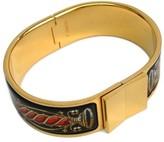 Hermes Cloisonne and Palladium Enamel Hook Bracelet
