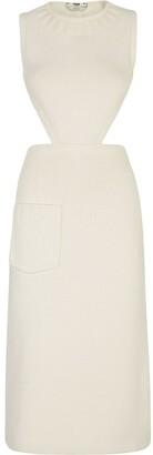Fendi Open Back Cut-Out Knit Dress