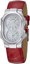 Philip Stein Teslar Signature Women's Red Leather Strap Dual Time Watch 1-CMOP-LR