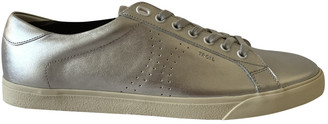 Celine Triomphe Silver Leather Trainers