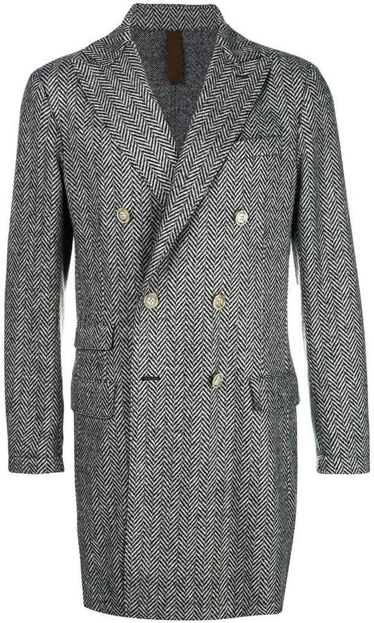 Eleventy double breasted herringbone coat