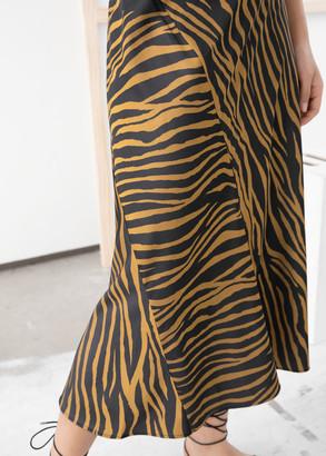 And other stories Zebra Print Midi Skirt