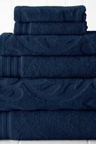 Amrapur Jacquard Medallion Swirl Solid 6-Piece Towel Set - Denim