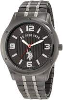 U.S. Polo Assn. Men's Horseman Round Case Gun-metal/ Tone Watch USC80195