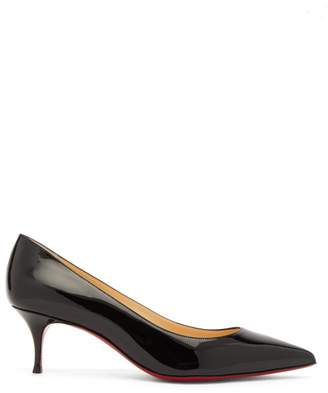 Christian Louboutin Kate 55 Patent-leather Pumps - Womens - Black