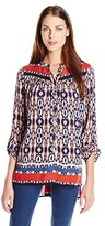 Plenty by Tracy Reese Women's Dappled Medallions Shirt Tunic