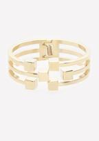 Bebe Cube Cutout Hinge Bracelet